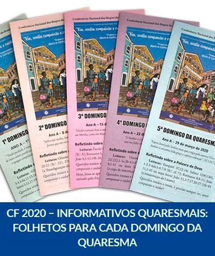 CF 2020 – Informativos Quaresmais: Folhetos para cada domingo da Quaresma